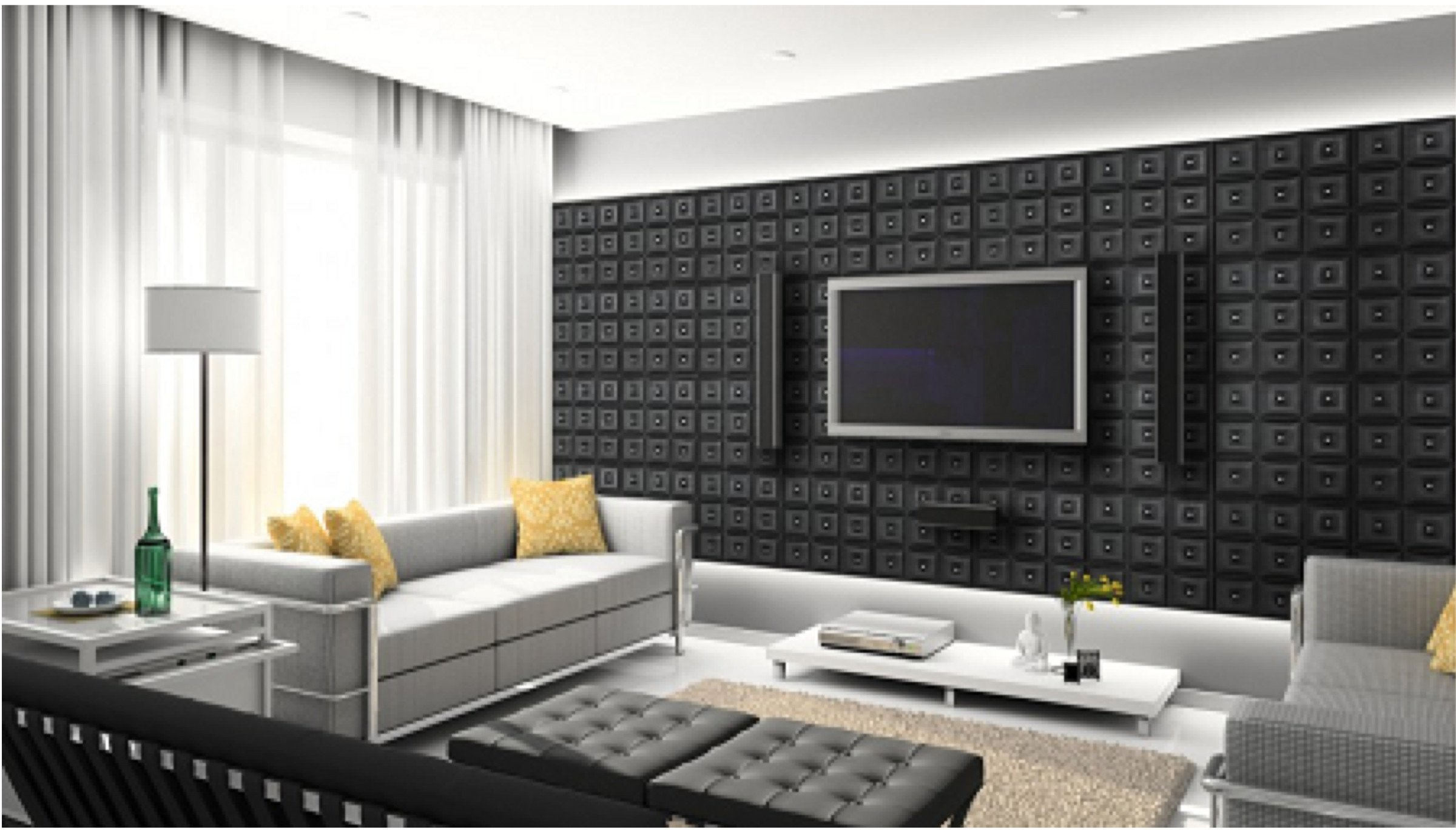 Stunning Faux Leather Wall Panels Transform A Room From Drab