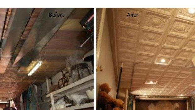 Before & After Ceiling Remodel