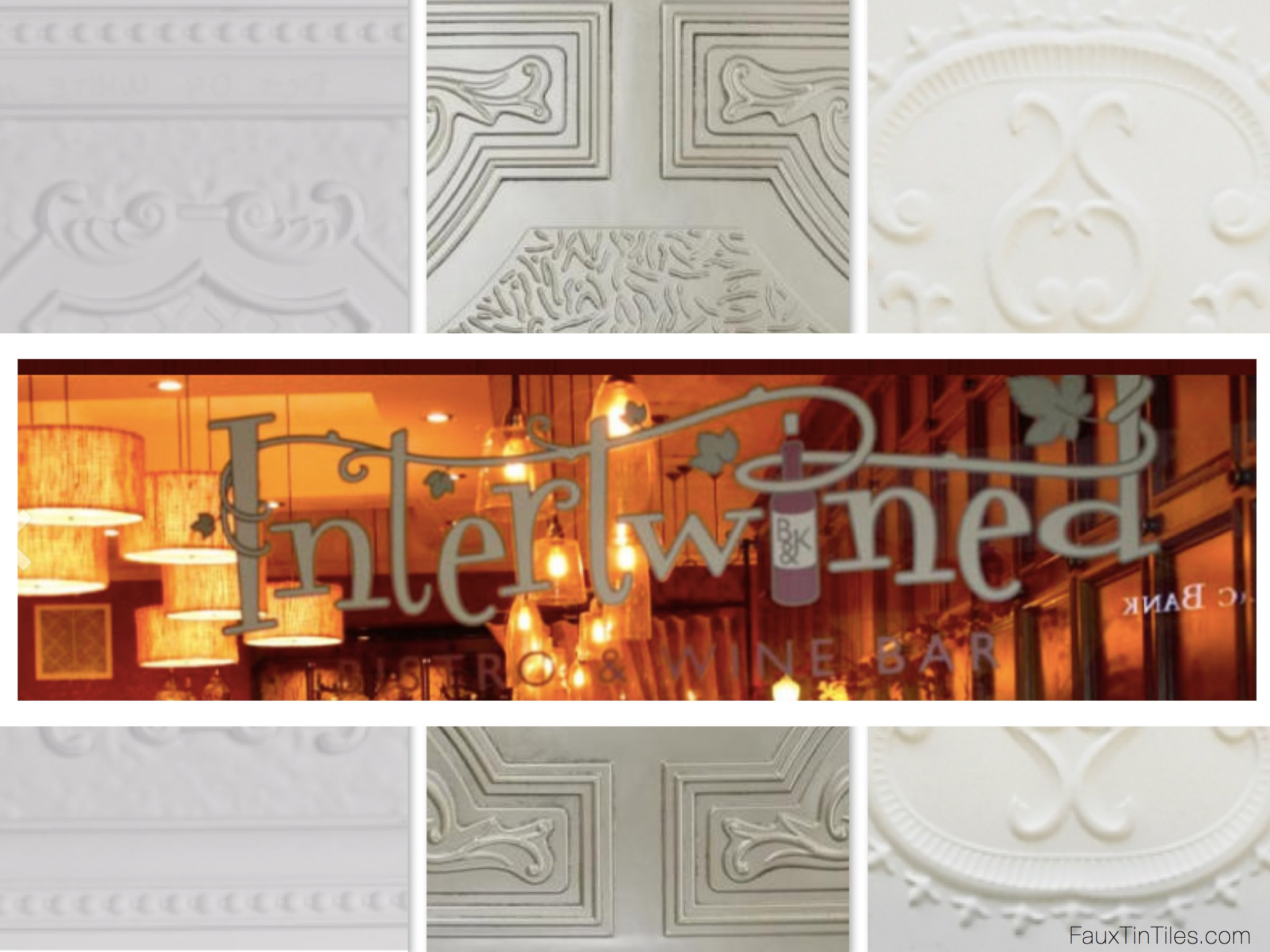 Decorative Ceiing Tiles at Intertwined, Escondido, CA