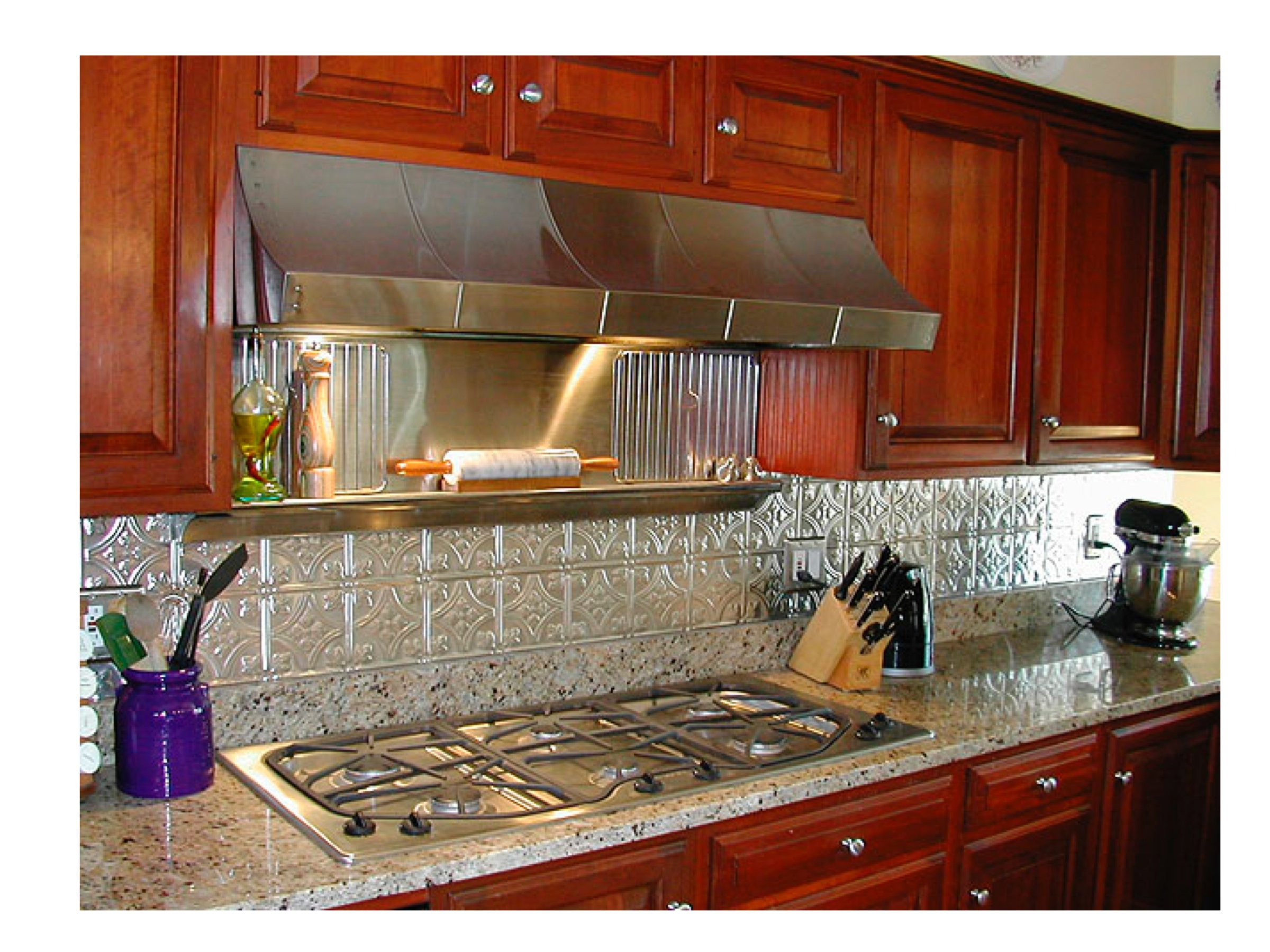 - Kitchen Backsplash Ideas, Decorative Tin Tiles, Metal Backsplash