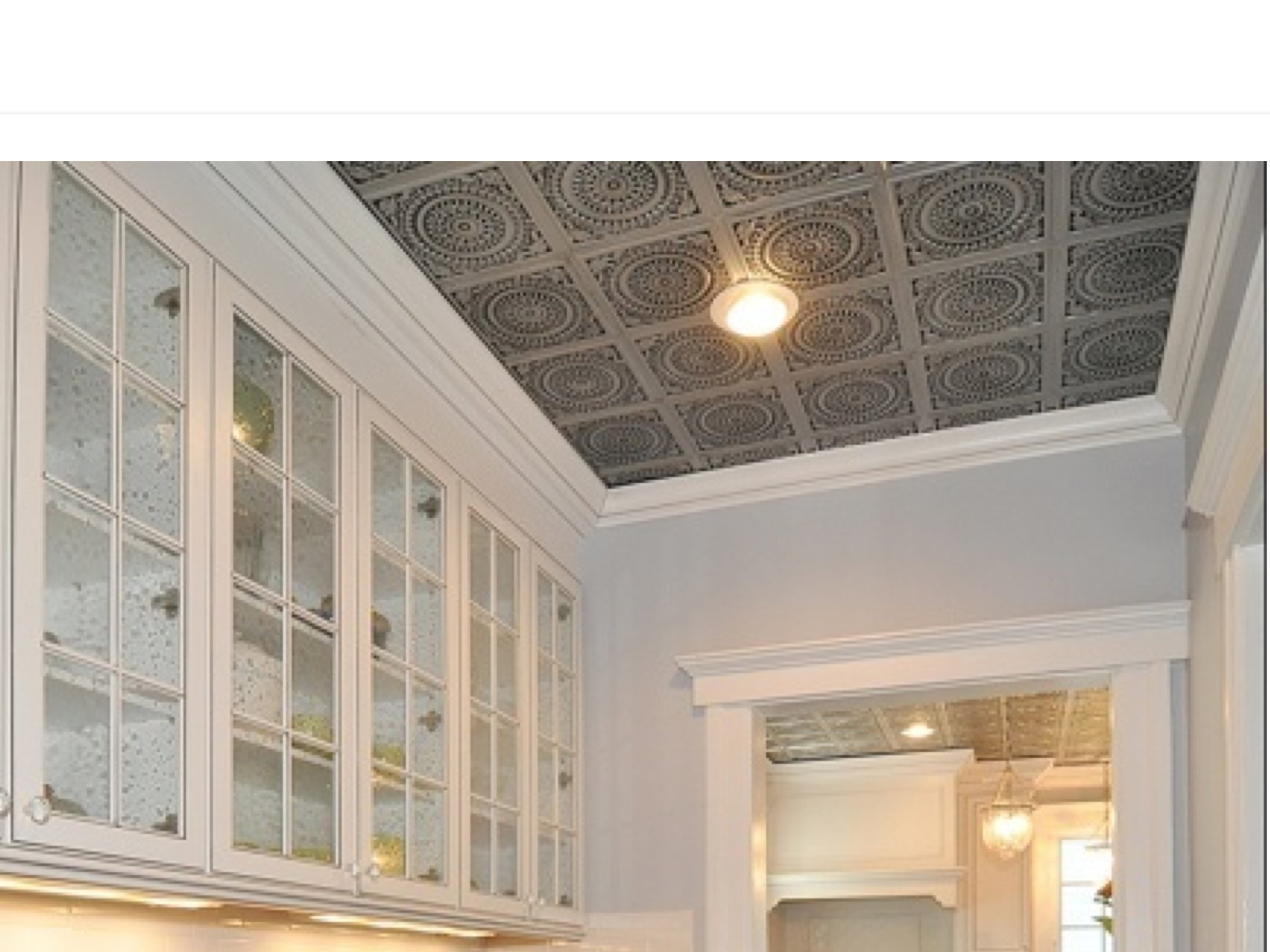 Faux Tin Decorative Ceiling Tiles in Butlers Pantry
