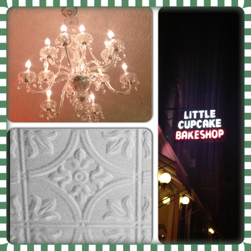 Decorative Ceiling Tiles at Little Cupcake Bakeshop in NYC