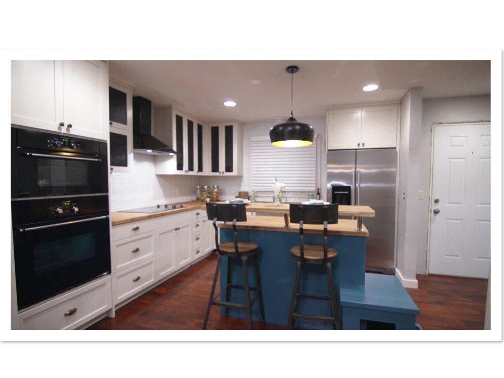 Tin Kitchen Backsplash On Hgtv S Renovation Raiders Home Improvement Kitchen