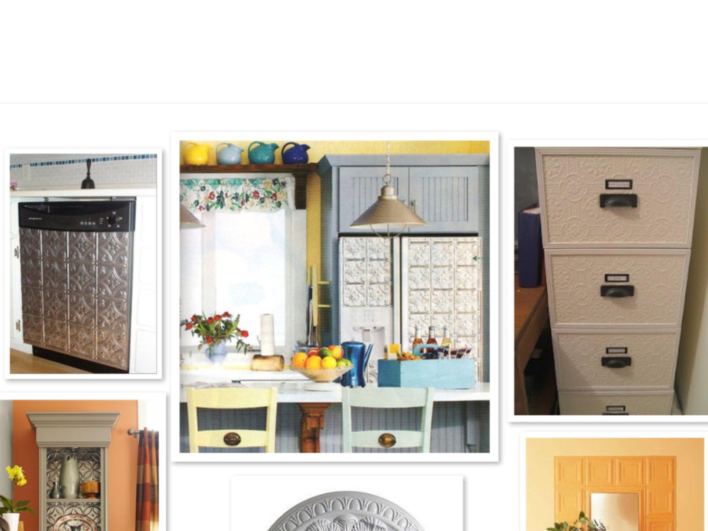 DIY Home Decor Update Using Decorative Tin Tiles