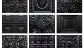 Black Ceiling Tiles