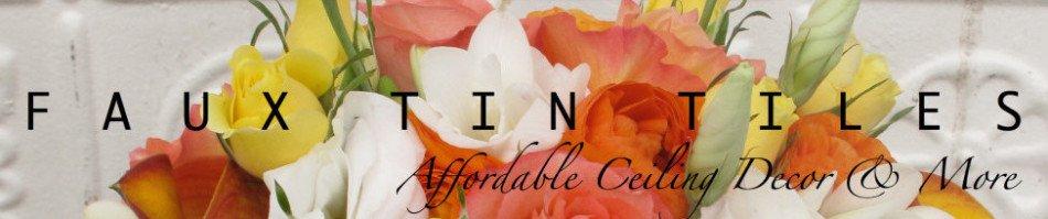 Decorative Ceiling Tiles | Tin Tiles | Ceiling Décor | Home Improvement |Photography Backdrops | FauxTinTiles.com