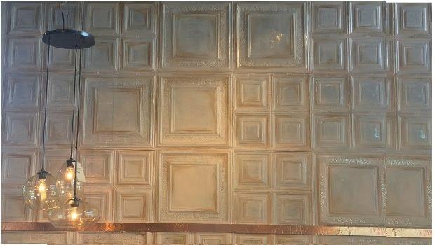 Ceiling Tile Backdrop at West Elm