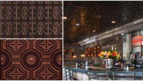 Restaurant faux tin tile ceilings