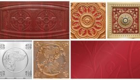 Asian Influenced Decorative Ceiling Tiles