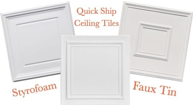 Quick Ship Decorative Ceiling Tiles