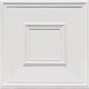 Town Square - White Matte Faux Tin Ceiling Tile 208
