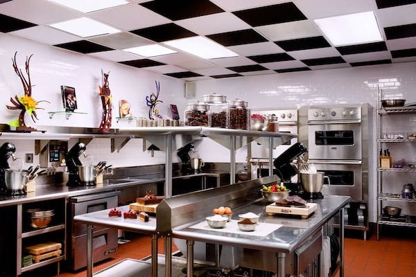 Black and White Checkered Ceilings at the Ritz Carlton's Cocoa Lab in Charlotte