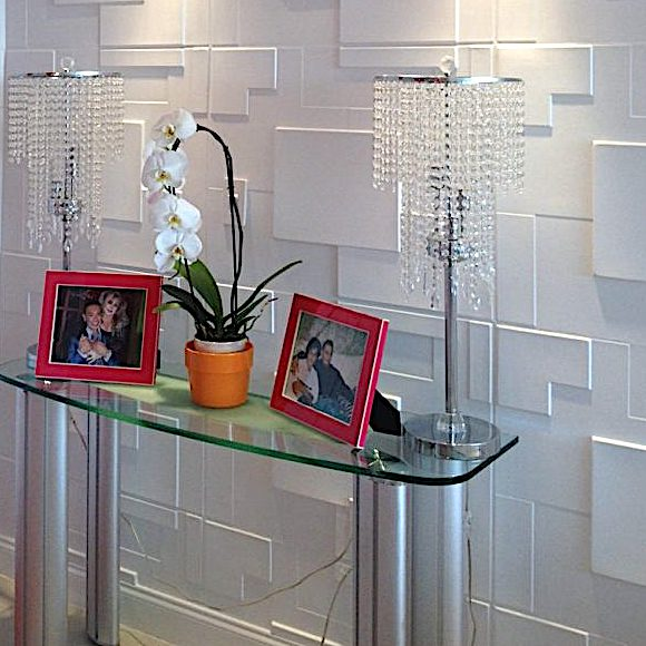 3D Wall Panels Bamboo Pulp 75 in Foyer