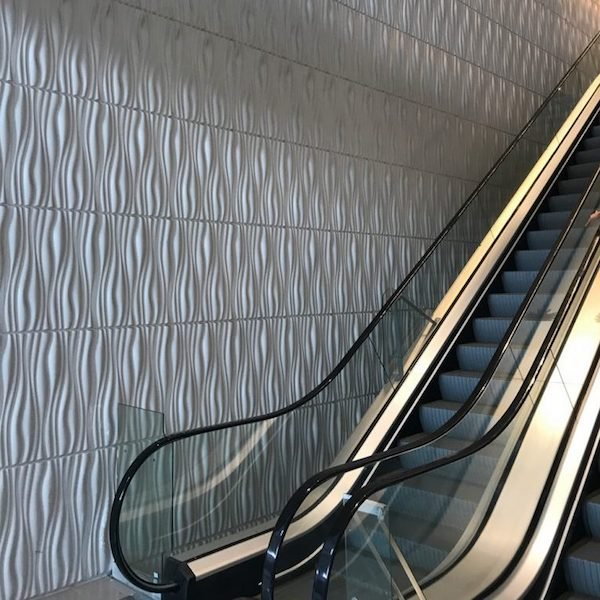 3D Wall Panels Bamboo Pulp Escalator Wall