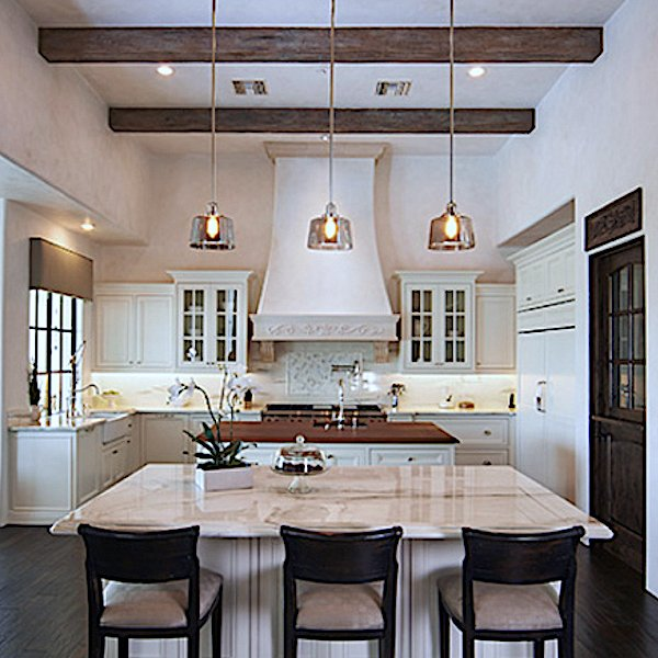 Faux Wood Beam Kitchen Ceiling Decor