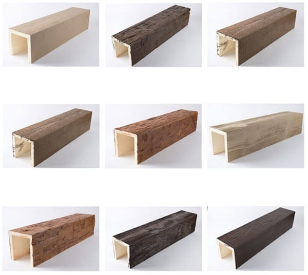 Faux Wood Beam Samples